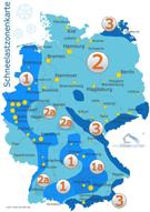 Schneelastzonen in Deutschland